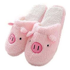 Girls Slippers FLEECY WARM SHEEP Fluffy Snuggle Pink Bow GRIP FEET Indoor Only