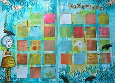 I need to make my own journaling calendar. I wouldn't have to do it all at once...just once a month. thekathrynwheel