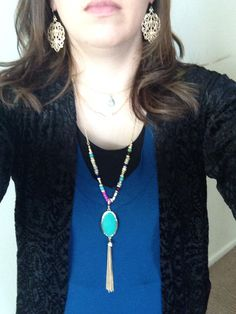 Premier Designs Look of the Day: Jolie necklace with Cece enhancer, Darcy earrings. Premier Designs Jewelry by Shawna
