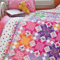 Sew Sweet: Colorful Treats Twin Bed Quilt Pattern