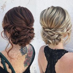 We are right in the middle of engagement season! I know you may thin… We are right in the middle of engagement season! I know you may thin…,wedding hair updos We are. Bridesmaid Hair Updo, Bridal Hair Updo, Bridal Hair And Makeup, Hair Makeup, Updos For Medium Length Hair, Medium Hair Styles, Short Hair Styles, Shaved Hair Women, Half Shaved Hair