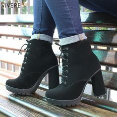 Black Platform Boots, High Heel Boots, Heeled Boots, Shoe Boots, High Heels, Shoes Heels, Dream Shoes, Crazy Shoes, Me Too Shoes