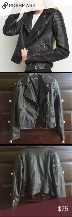 Leather jacket Worn only once and still in brand new condition. Great for a night out:) Brandy Melville Jackets & Coats
