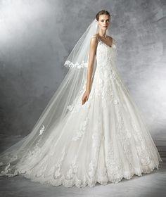 Primadona, vestido de novia estilo princesa de tul