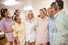 Bride with DIY bridesmaids shirts