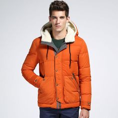 Mens Outdoor Parkas Brand Winter Hooed Keep Warm Outdoor Down Jacket Thicken Down Coat
