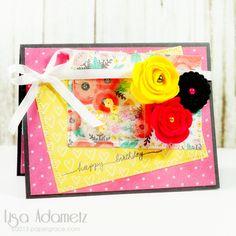 Birthday Shaker Card using Keepsake Envelopes, tutorial by @papergrace for #SBAdhesivesby3L Blog