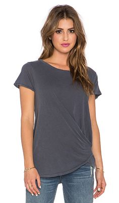 Stateside Twist Front Tee in Charcoal | REVOLVE