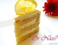 eggless cake white chocolate and lemon sponge layered cake recipe (simple and easy) I have to try this!