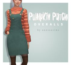 The Sims 4 Anessasims Pumpkin Patch Overalls Sims 4 Mods, Sims Four, Sims 4 Mm Cc, Maxis, Urban Living, Taylor Swift, One Photo, Festivals, Holiday Outfits Women
