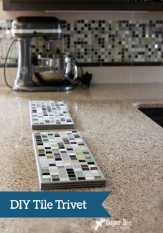 These DIY tile trivets are perfect for holding a long line of hot dishes. Try making them before your next dinner party!