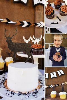 Wild One Party Theme. How to throw a Wild One Party theme. First Birthday PArty Themes, First Birthday Party Ideas. Cute First Birthday Party, Deer Baby Shower Theme, Baby Deer Party. Black and White Party Themes. Boho Party Themes. White Feathers, Boho Glitter Banners, Deer Cupcake Toppers, Deer Cake Toppers, Baby Deer Theme. Wild One Deer Theme. Antler Decorations. Little Buck Party Theme