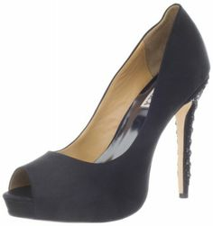 Dress up any outfit with this pair of classic high-heeled pumps. These attractive shoes feature rounded toes and are available in several colors, so you choose just the right ones to match your evening or office wear. These shoes features a 4.5 inch heel height, platform measures approximately 0.75 inch and a slightly padded foot bed for a comfortable step.