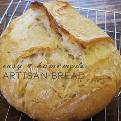 easy and homemade artisan bread