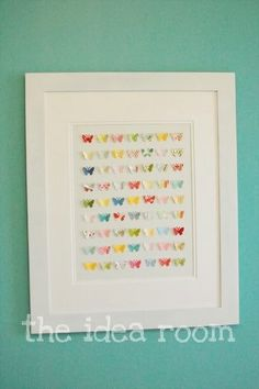 Butterfly Wall Art Collage via Amy Huntley (The Idea Room)