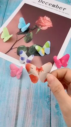 Shop Colourful Origami Paper, Knitting Quilting and Sewing Tools here! You can More Diy Crafts and Projects Christmas Diy Gift Ideas Here! Paper Flowers Craft, Paper Crafts Origami, Paper Crafts For Kids, Flower Crafts, Diy Paper, Paper Pin, Diy Crafts Butterfly, Diy Butterfly Decorations, Paper Flower Garlands