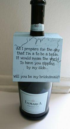 Bridesmaids proposal