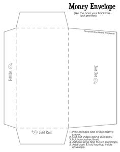 gift money envelope templates home and family finance and org