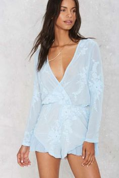 I've Got the Flower Embroidered Romper Shop Clothes at Nasty Gal! Romper Outfit, Playsuit Romper, Ruffle Romper, Chiffon Kimono, Cute Rompers, Jumpsuits For Women, Spring Outfits, Dress To Impress, Clothes For Women