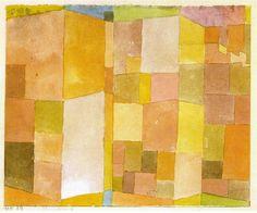 Paul Klee (1879-1940) Carriere à Ostermunding (1915) > KLEE n'a pas de barrière entre le figuratif et le non figuratif