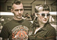 rockabilly couple La polera rockera