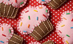 Resultado de imagen para cupcakes de fieltro