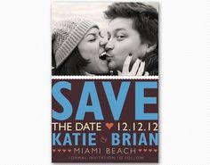 Save The Date Bright and Bold Wedding Card or por cardcandydotcom