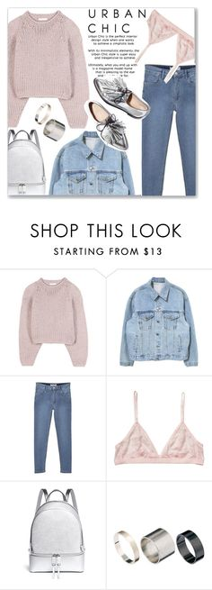 """""""urban chic"""" by myduza-and-koteczka ❤ liked on Polyvore featuring Chloé, MANGO, Monki, Loeffler Randall, Michael Kors and Just Acces"""