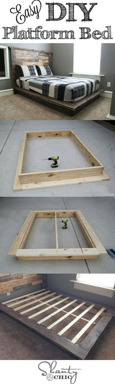 Best DIY Projects: Easy DIY Platform Bed that anyone can build! Best DIY Projects: Easy DIY Platform Bed that anyone can build! The post Best DIY Projects: Easy DIY Platform Bed that anyone can build! appeared first on Bett ideen. Diy Furniture Projects, Cool Diy Projects, Building Furniture, Project Ideas, Bedroom Furniture, Weekend Projects, Bedroom Bed, Wood Furniture, Apartment Furniture