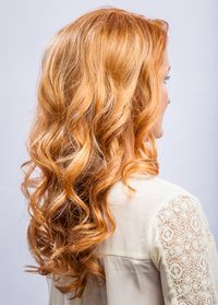 Red Lowlights Blonde Highlights