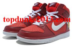 Angry Birds Nike Dunk Red High Tops Guaranteed