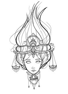 Images For > Virgo Sign Drawings