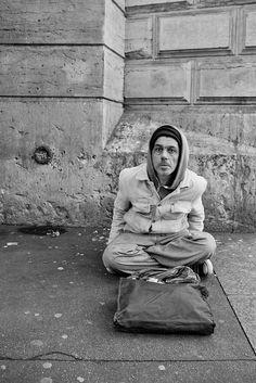 Street Photography I, or, 'The Two Saints'   Matthew Herring - Philippe, Saint Michel, Paris, France, 2011
