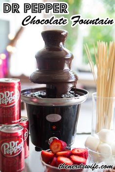 Dr Pepper Chocolate Fountain -- an easy and FUN addition to your backyard bash!