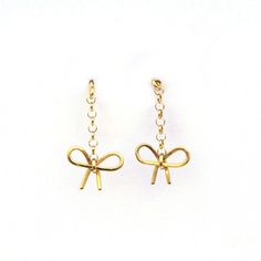 My design inspiration: Bow Chain Earrings Gold on Fab.