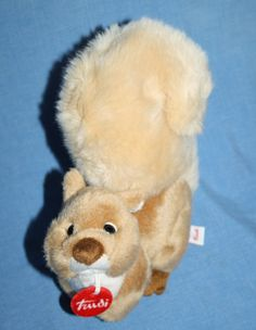 "Trudi Spa Italy plush Squirrel Red tag Stuffed Wild Animal soft toy 8"" Realistic #TrudiSpa #Squirrel"