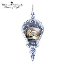 Thomas Kinkade Blessings Of Love Ornament