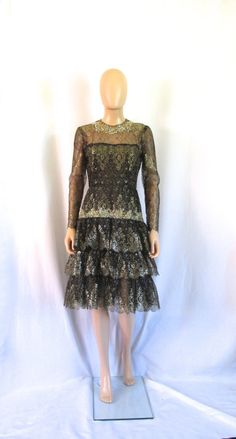 Oscar De La Renta Couture Lace Dress by VeryOaklandVintage on Etsy