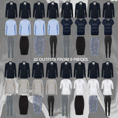 32 Outfits From 9 Pieces/ FALL 2015