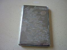 Vintage Emubrite Cigarette Case Emu Brand Map of by VintageUKSouth, £10.00