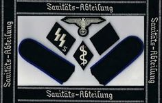 MEDICAL DETACHMENT WAFFEN SS COLLAR TABS CUFF TITLE PATCHES SHOULDER BOARDS EAGLE SHIELD INSIGNIA PRICE $59