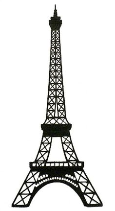 eiffel tower black and white outline - Google Search