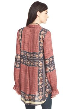 Free People 'Changing Times' Floral Print Tunic   Nordstrom