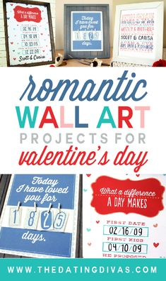 Wow!! 3 beautiful printables for Valentine's day to help you get your DIY on!! www.TheDatingDivas.com