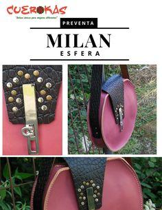 Milán es un bolso único y exclusivo. Un clásico con un toque roquero, disponible en preventa. Contactar en contacto@cuerokas.com