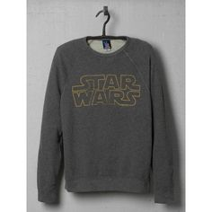 Junk Food Clothing Star Wars Logo Vintage Sweatshirt ($45) ❤ liked on Polyvore