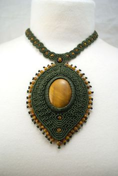 Ian Lander Jewelery : Macrame : Necklaces : Tiger Eye