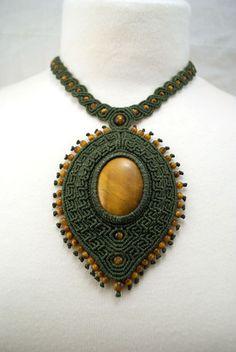 Ian Lander Jewelery : Macrame : Necklaces : Tiger Eye