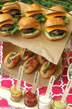 Summer Food Bar - DIY, catering, babecue, hamburger, hot dog