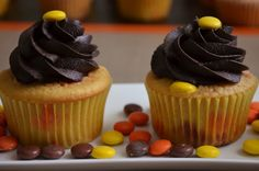 For the Love of Dessert: Reeses Pieces Cupcakes, Take 2